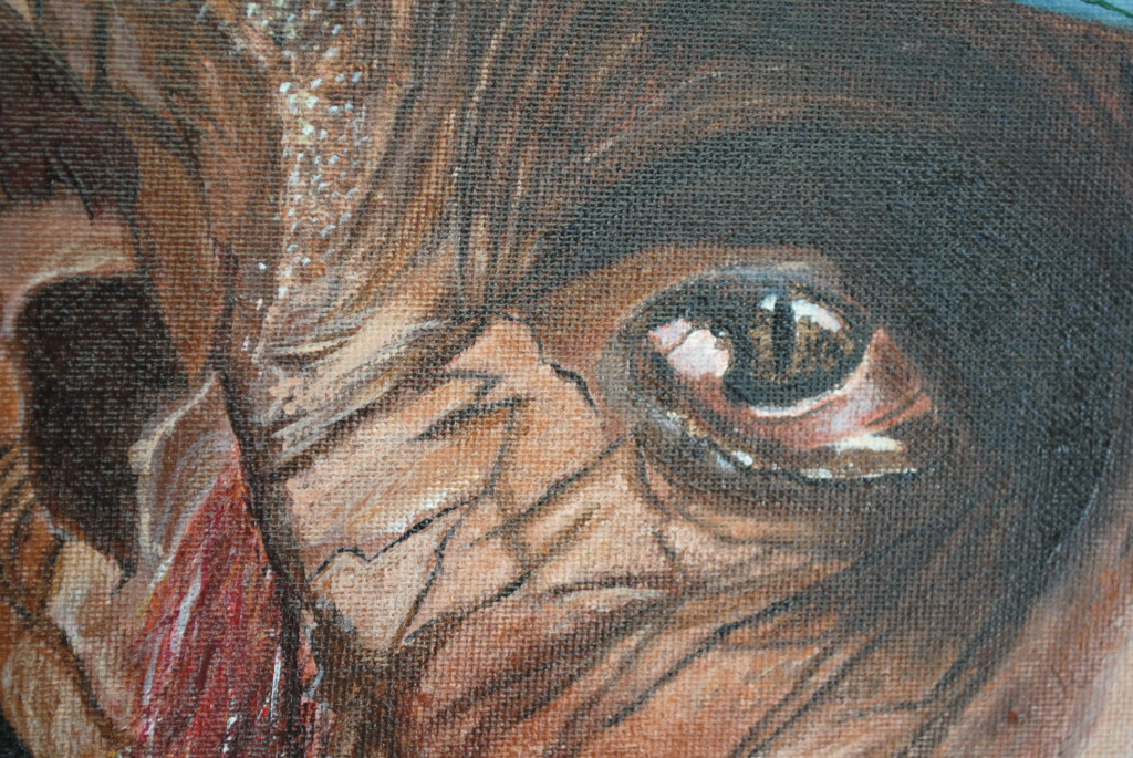 Acrylic painting - Disincanto. Io sono.